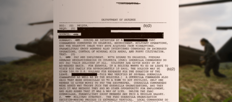 """Informes desclasificados en EE UU detallan la """"simbiosis"""" del Ejército de Colombia con los paramilitares - Archivos-desclasificados-Colombia-EEUU"""