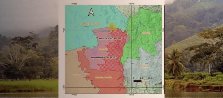 Minería nueva actuación que profundiza los riesgos de Emberas y Afros - Jiguamiando-Mapa-1