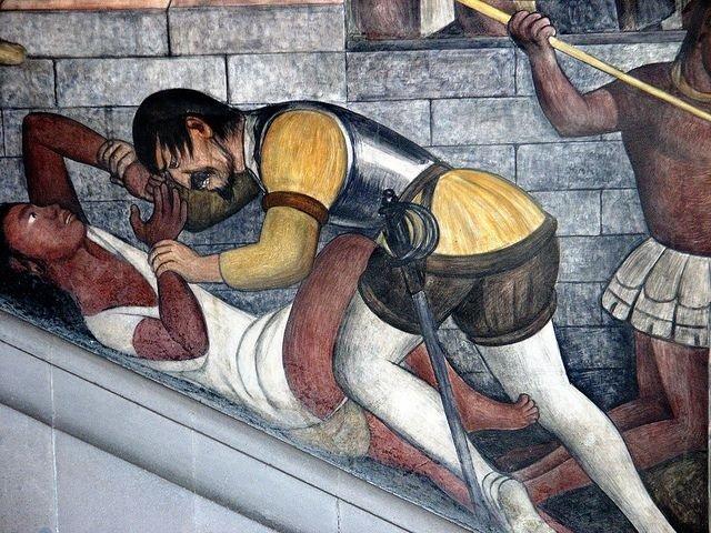Violencia sexual contra las mujeres indígenas en la conquista del Nuevo Mundo. 529 años de resistencia indígena, negra y popular - Violacion.-Mural-de-Diego-de-Rivera.-Mexico.