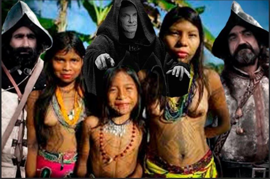Violencia sexual contra las mujeres indígenas en la conquista del Nuevo Mundo. 529 años de resistencia indígena, negra y popular - violencia-sexual-contra-las-mujeres-indigenas-de-America-III.-Montaje-Yuma-BB